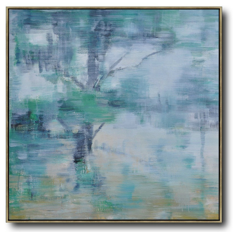 Large Abstract Art Handmade Painting,Oversized Abstract Landscape Oil Painting,Huge Abstract Canvas Art,Gray,Green,White.etc