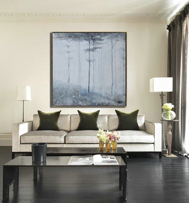 Abstract Painting Extra Large Canvas Art,Oversized Abstract Landscape Oil Painting,Large Colorful Wall Art,White,Gray,Black.etc