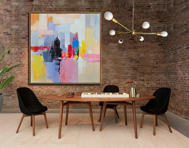 Large Abstract Painting On Canvas,Oversized Palette Knife Painting Contemporary Art On Canvas,Modern Paintings On Canvas,White,Red,Black,Blue.etc