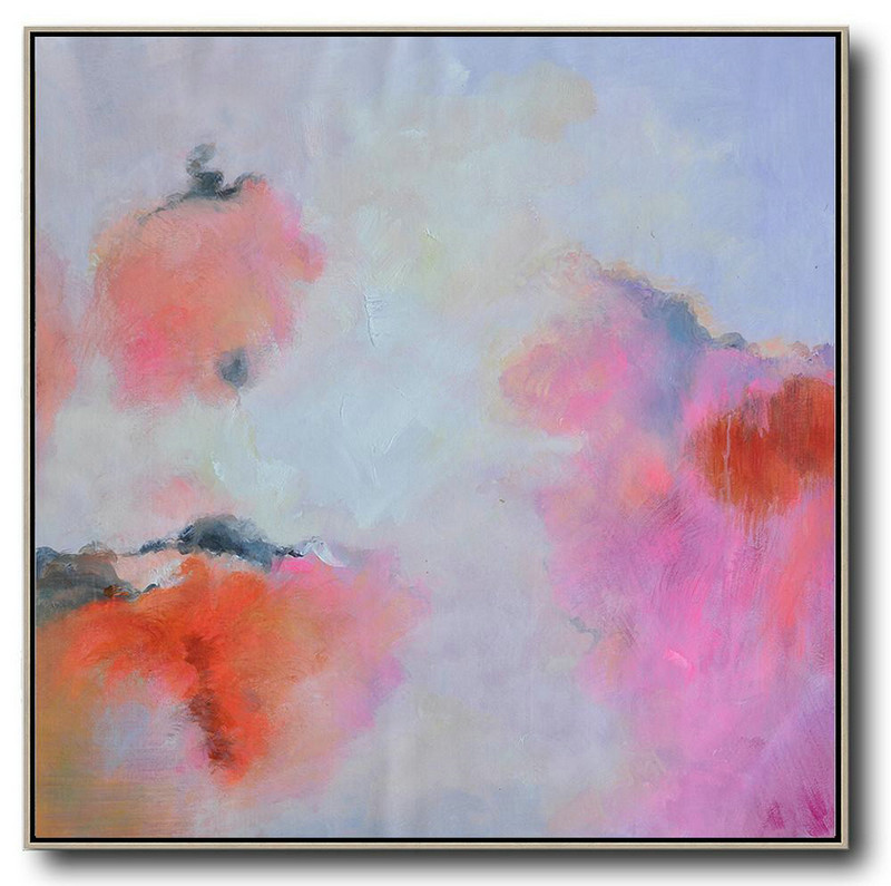 Extra Large Abstract Painting On Canvas,Oversized Contemporary Art,Large Contemporary Painting,Blue,Red,Pink,Purple.etc