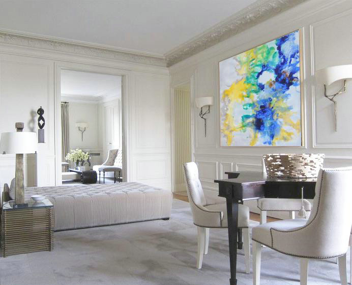 Abstract Painting Extra Large Canvas Art,Oversized Abstract Landscape Painting,Hand Painted Abstract Art,Grey,Yellow,Green,Blue.etc