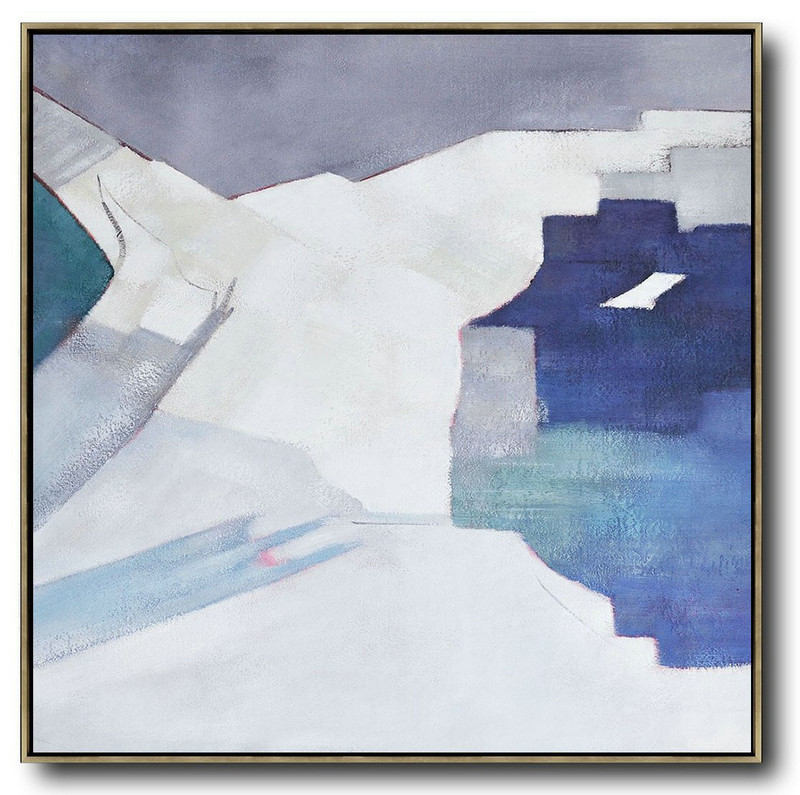 Large Abstract Art,Oversized Contemporary Art,Hand Made Original Art,Blue,White,Grey.etc