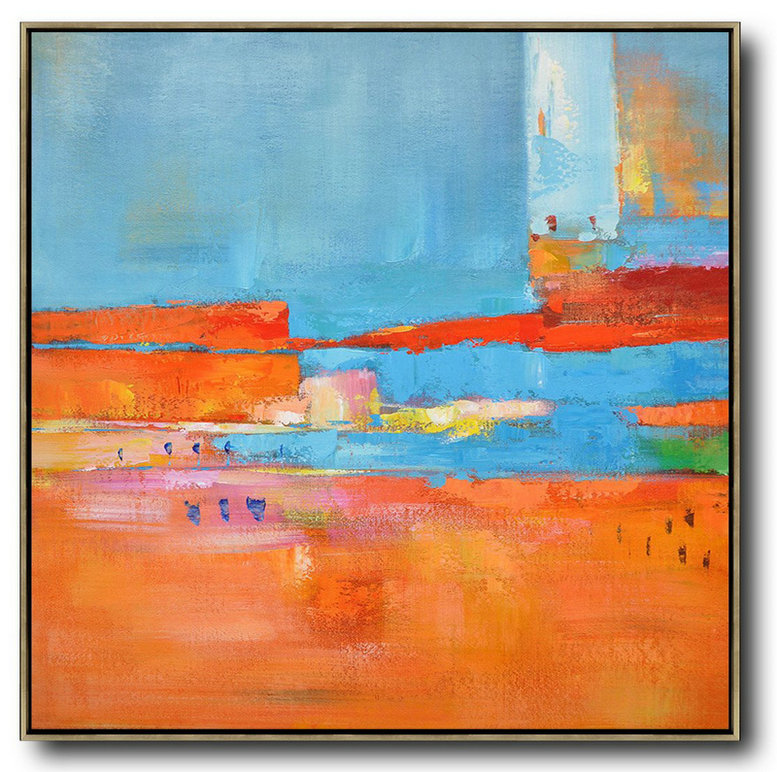 "Extra Large 72"" Acrylic Painting,Oversized Contemporary Art,Contemporary Canvas Paintings,Red,Blue,Orange,Yellow,Pink.etc"