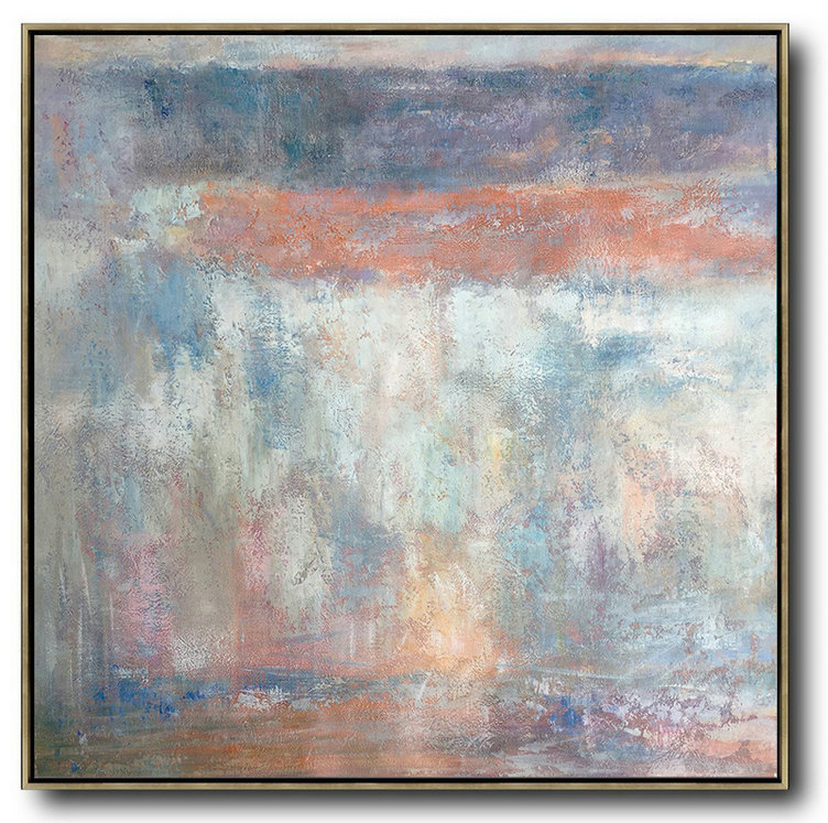Hand Painted Extra Large Abstract Painting,Oversized Contemporary Art,Large Abstract Art Handmade Acrylic Painting,Orange,Grey,White,Blue.etc