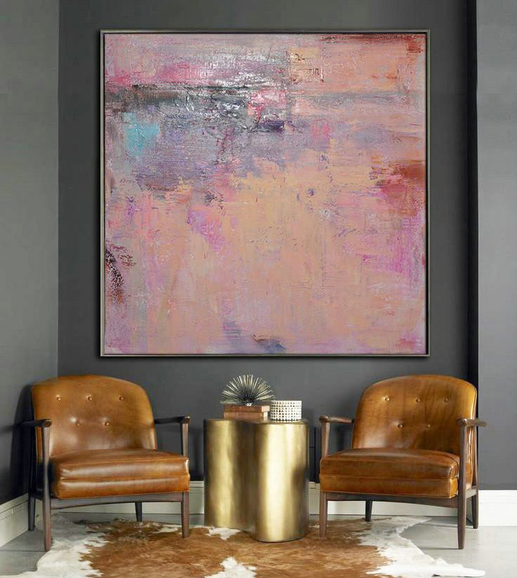 Original Painting Hand Made Large Abstract Art,Oversized Contemporary Art,Hand Painted Original Art,Nude,Blue,Purple,Pink.etc - Click Image to Close