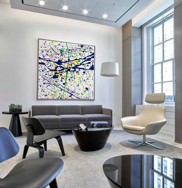 Large Abstract Art,Oversized Contemporary Art,Extra Large Artwork,Blue,White,Yellow,Green.etc