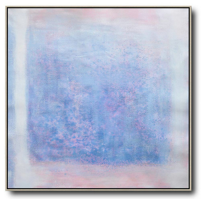 Handmade Extra Large Contemporary Painting,Oversized Contemporary Painting,Contemporary Art Wall Decor,Blue,Pink,White,Gray.etc