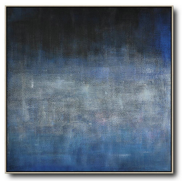 Abstract Painting Extra Large Canvas Art,Oversized Contemporary Painting,Hand Painted Abstract Art,Dark Blue,Black,Grey.etc