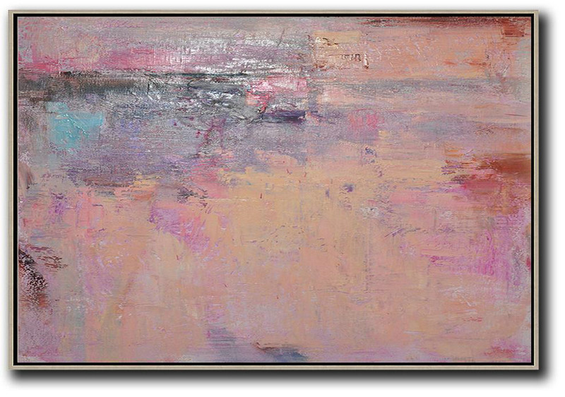 Handmade Large Contemporary Art,Oversized Horizontal Contemporary Art,Large Canvas Art,Modern Art Abstract Painting,Nude,Pink,Purple,Brown.etc
