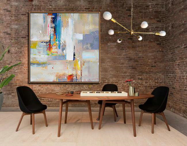 Original Artwork Extra Large Abstract Painting,Oversized Palette Knife Painting Contemporary Art On Canvas,Hand Painted Aclylic Painting On Canvas,Blue,Yellow,Nude,Pink,Red.etc