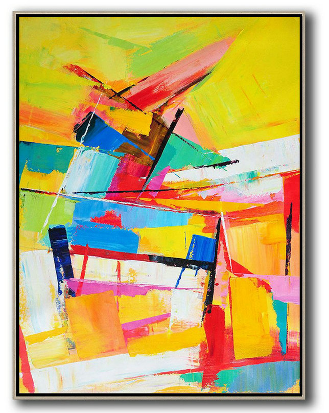 Palette Knife Acrylic Painting Abstract Art