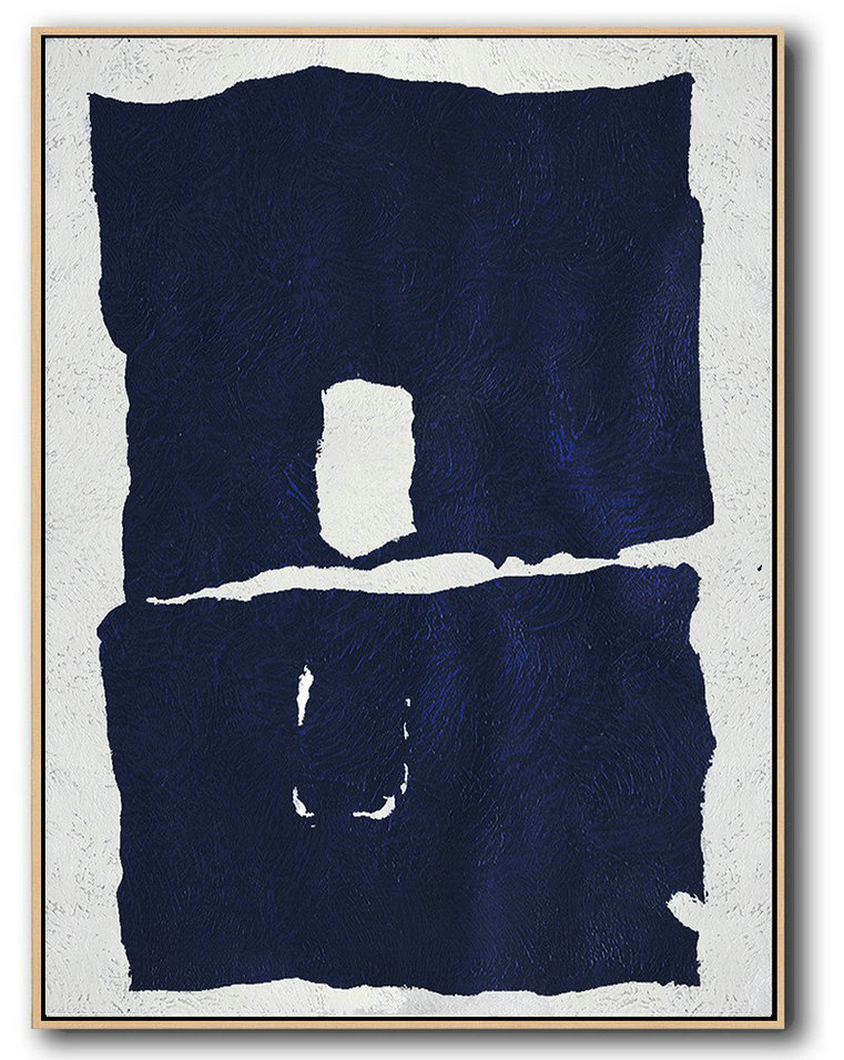 Abstract Painting Extra Large Canvas Art,Buy Hand Painted Navy Blue Abstract Painting Online,Extra Large Paintings