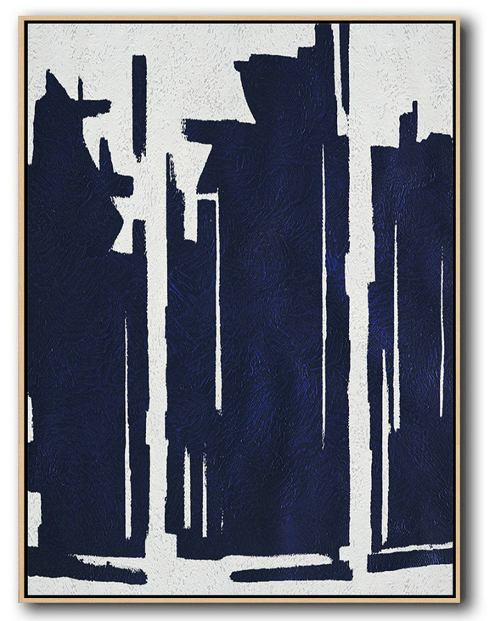 Original Artwork Extra Large Abstract Painting,Buy Hand Painted Navy Blue Abstract Painting Online,Hand Paint Abstract Painting