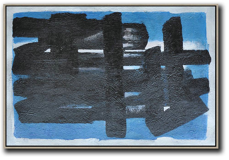 Extra Large Acrylic Painting On Canvas,Hand-Painted Oversized Horizontal Minimal Painting On Canvas,Big Painting