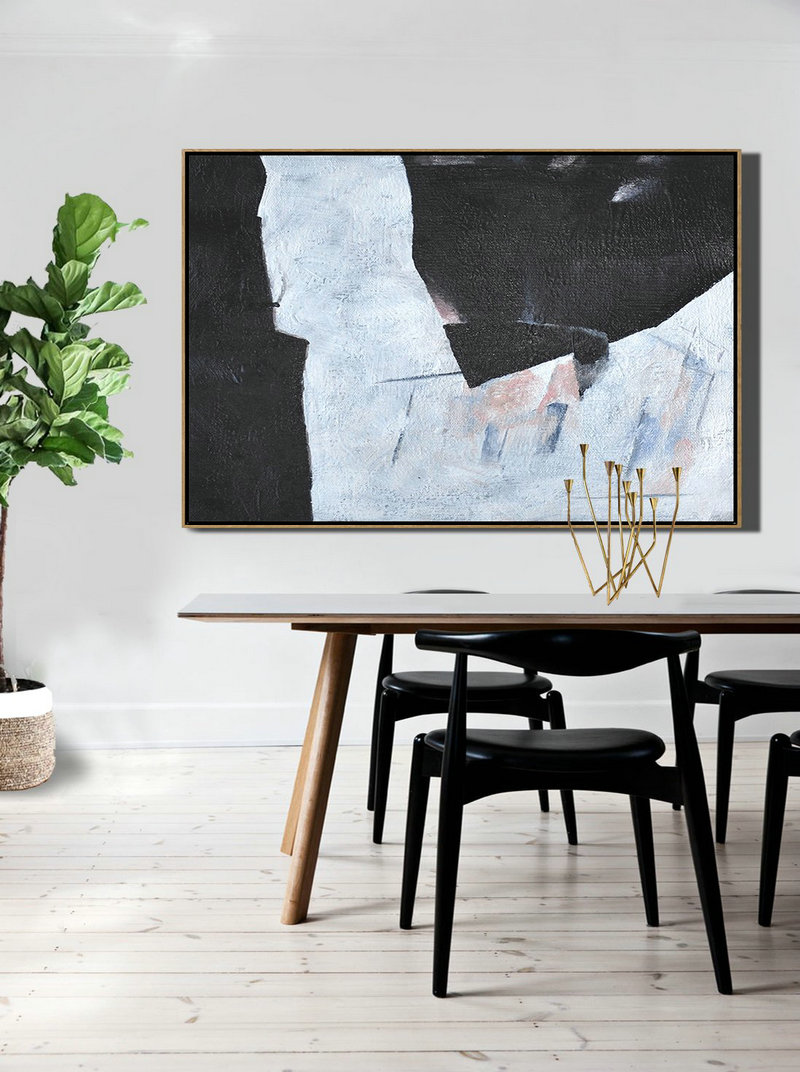Original Extra Large Wall Art,Hand-Painted Oversized Horizontal Minimal Art On Canvas,Abstract Painting For Home