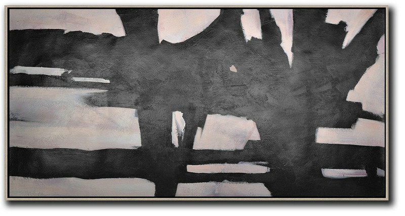 Handmade Large Contemporary Art,Hand-Painted Oversized Horizontal Minimal Art On Canvas,Size Extra Large Abstract Art