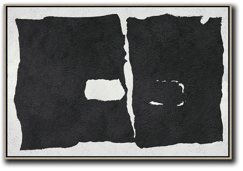 Modern Art,Oversized Horizontal Minimal Art On Canvas - Hand Paint Large Clean Modern Art