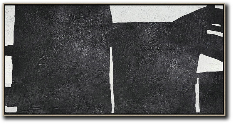 Huge Abstract Canvas Art,Oversized Horizontal Minimal Art On Canvas - Hand Paint Large Clean Modern Art