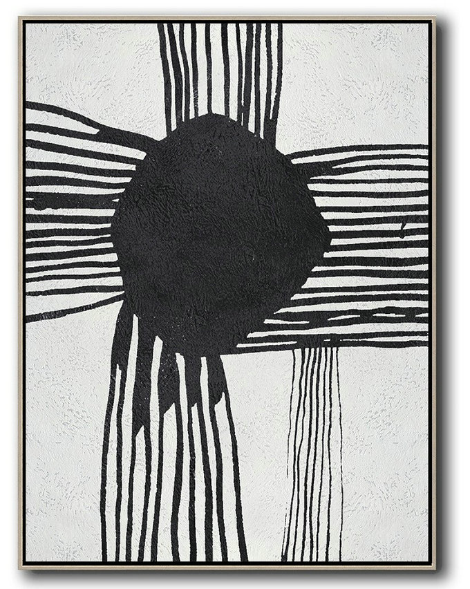 Canvas Art Black And White Abstract